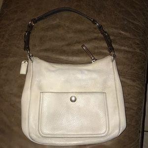 Coach white hobo bag